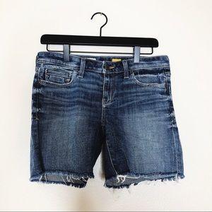 Anthropologie Pilcro Jean shorts frayed raw hem